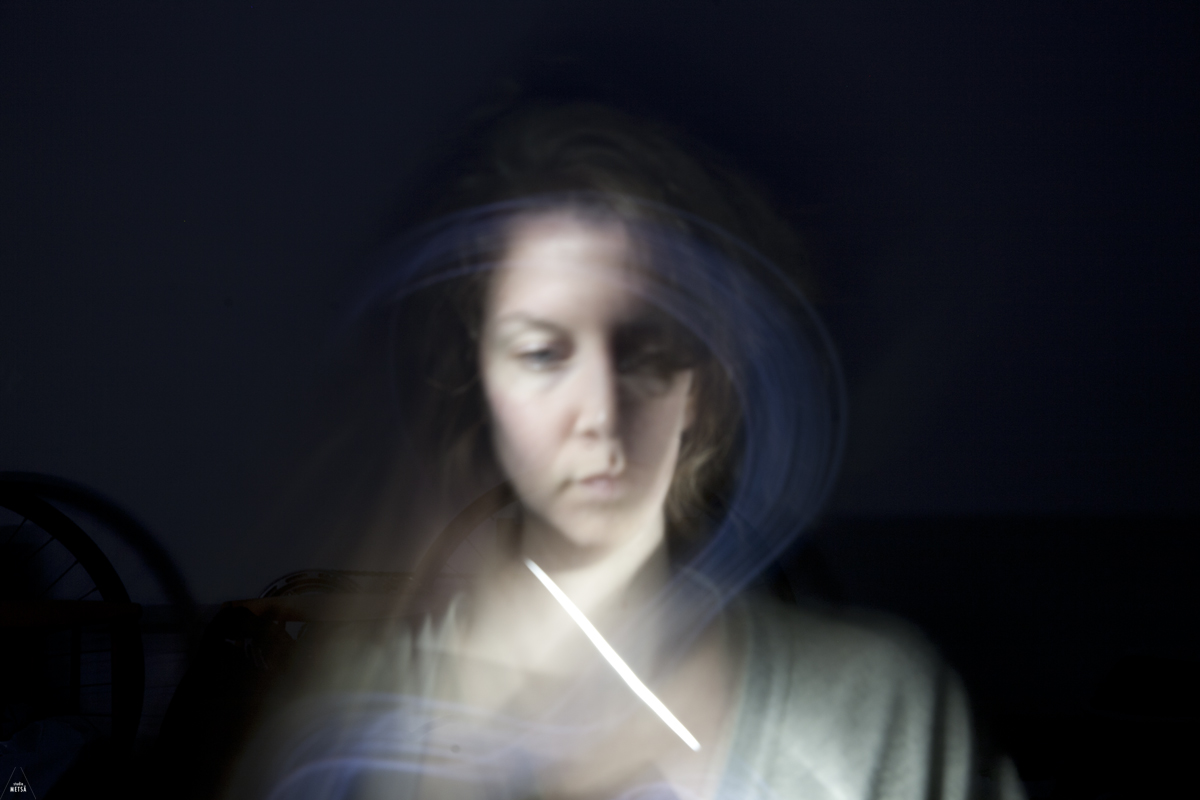 Painting with light self-portraits by Studio Metsä Photography