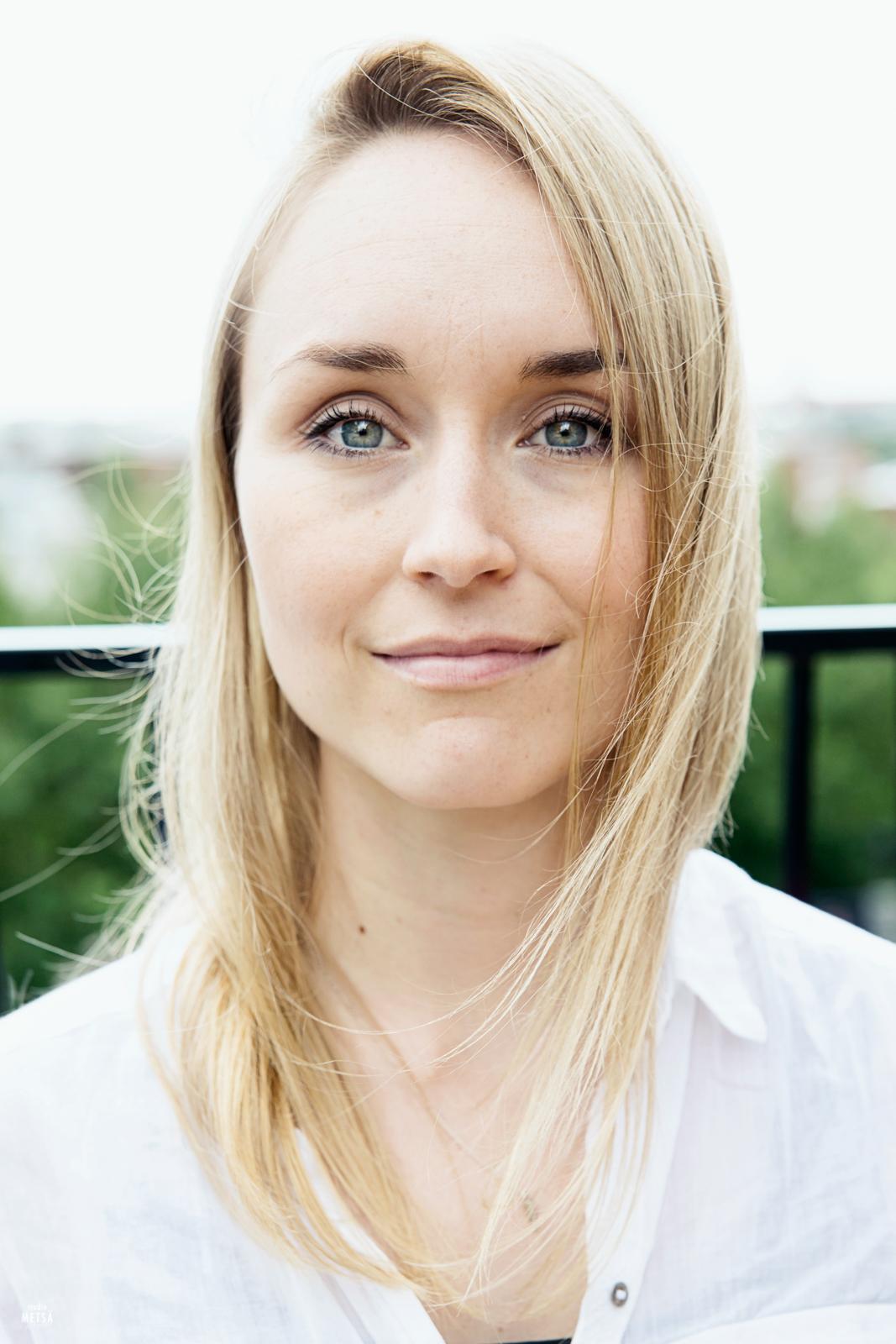 Portraits of Annika in Helsinki, Finland