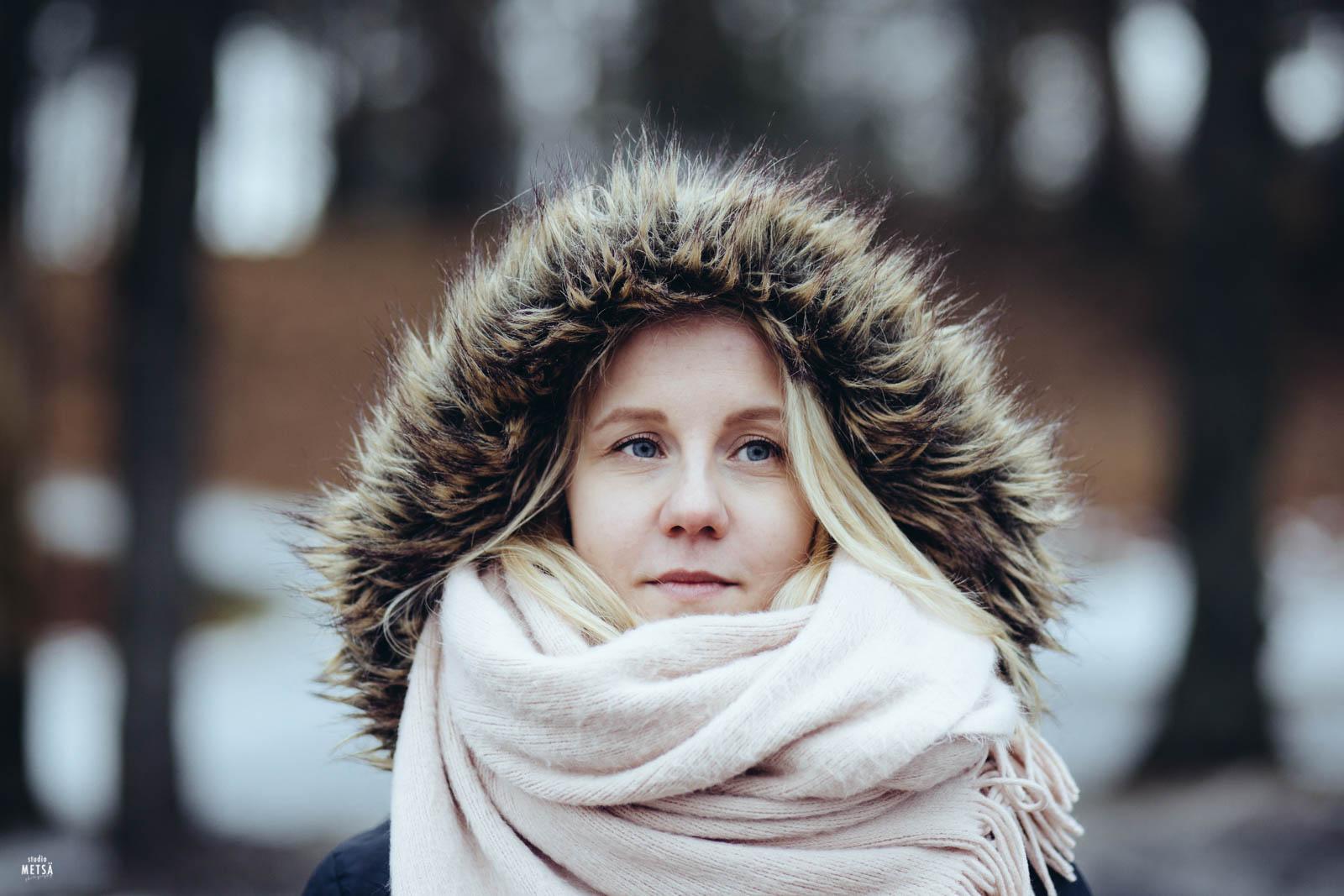 Nina Talvipuutarhassa Helsingissä valokuvaaja Studio Metsä