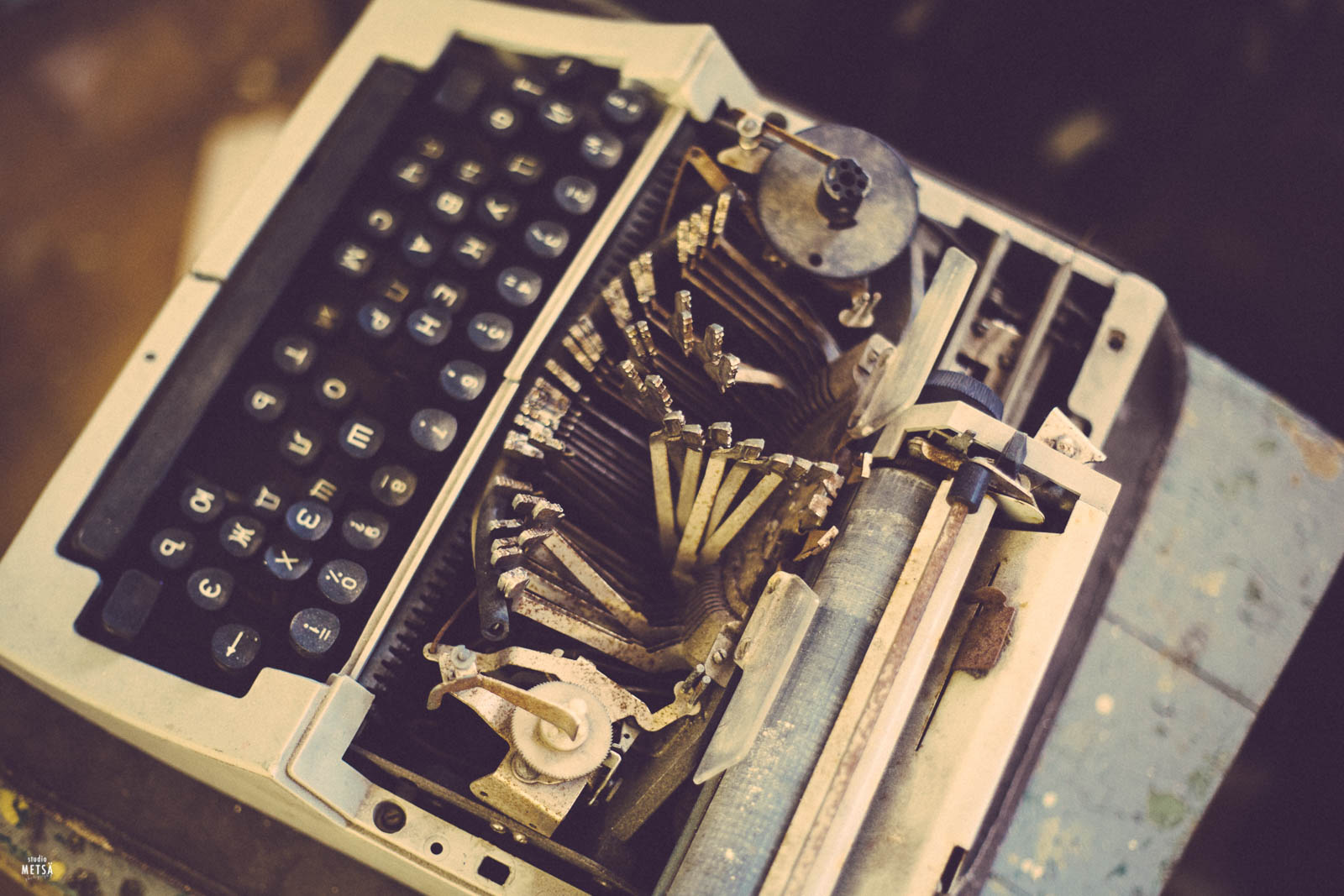 Broken typewriter in Patarei prison Studio Metsä Photography