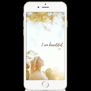 I am beautiful Phone Wallpaper by Studio Metsä