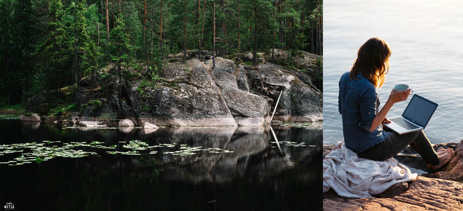 Viola Nygren Studio Metsän kuvattavana Helsingissä