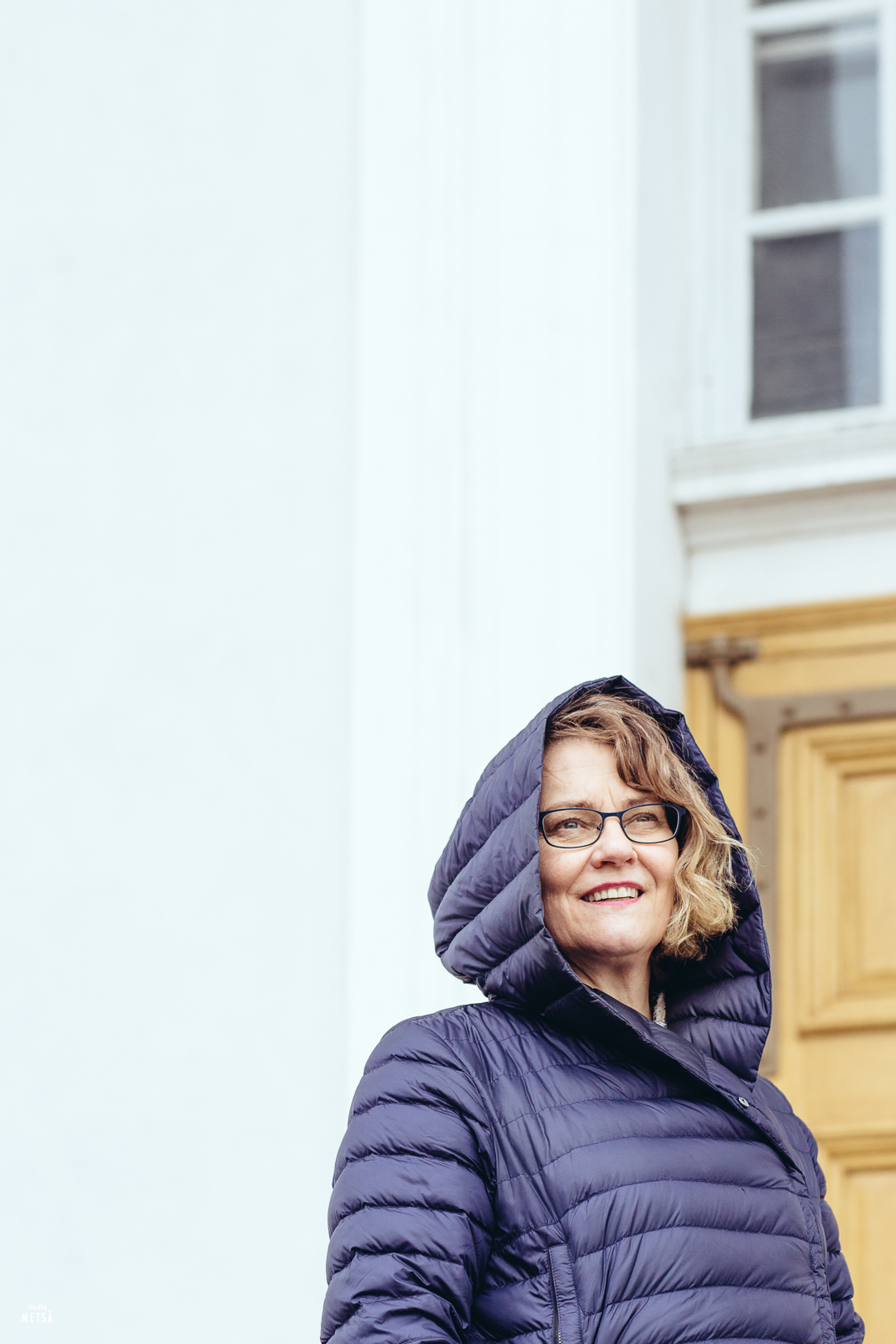 Portrait of beautiful Päivi in Helsinki Finland by photographer Erika Lind from Studio Metsä.
