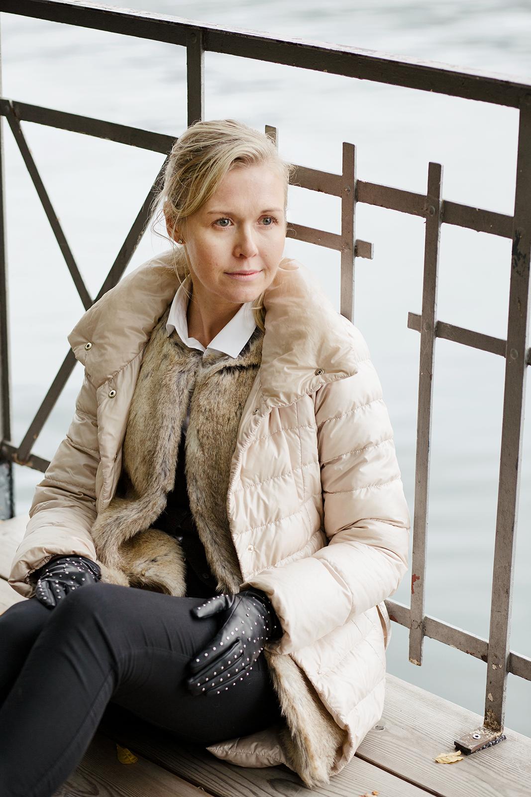 Kaunis Kristiina kuvattuna Luganossa Sveitsissä Valokuvaaja Erika Lind Studio Metsä