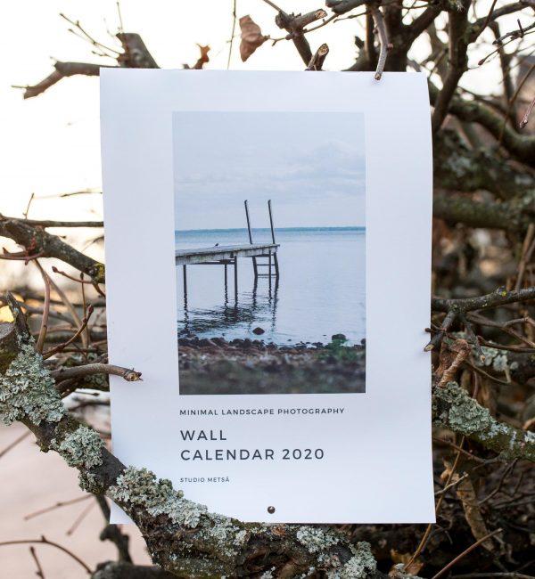 Minimalistinen maisemakuvaus seinäkalenteri 2020