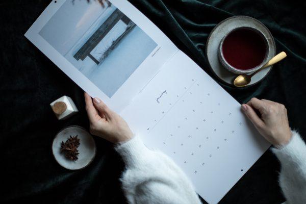 Minimal Landscape Photography Wall Calendar 2021